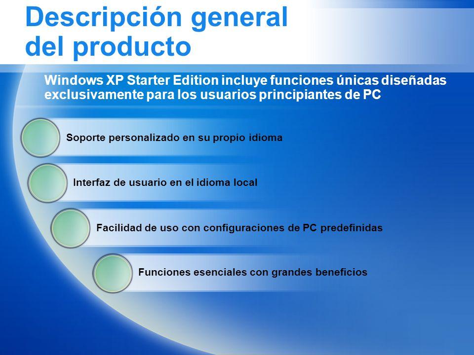 Descripción general del producto Soporte personalizado en su propio idioma Interfaz de usuario en el idioma local Facilidad de uso con configuraciones