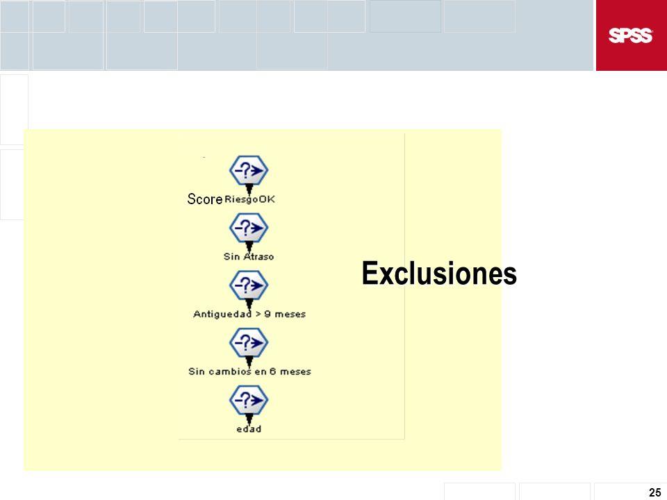 25 Exclusiones
