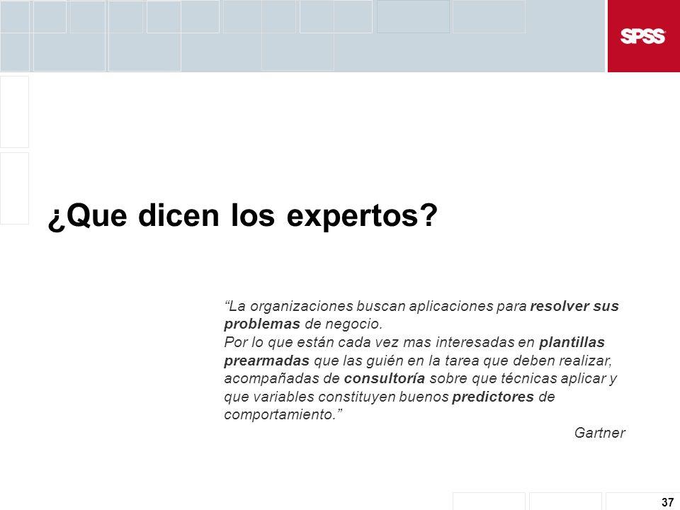 37 ¿Que dicen los expertos.