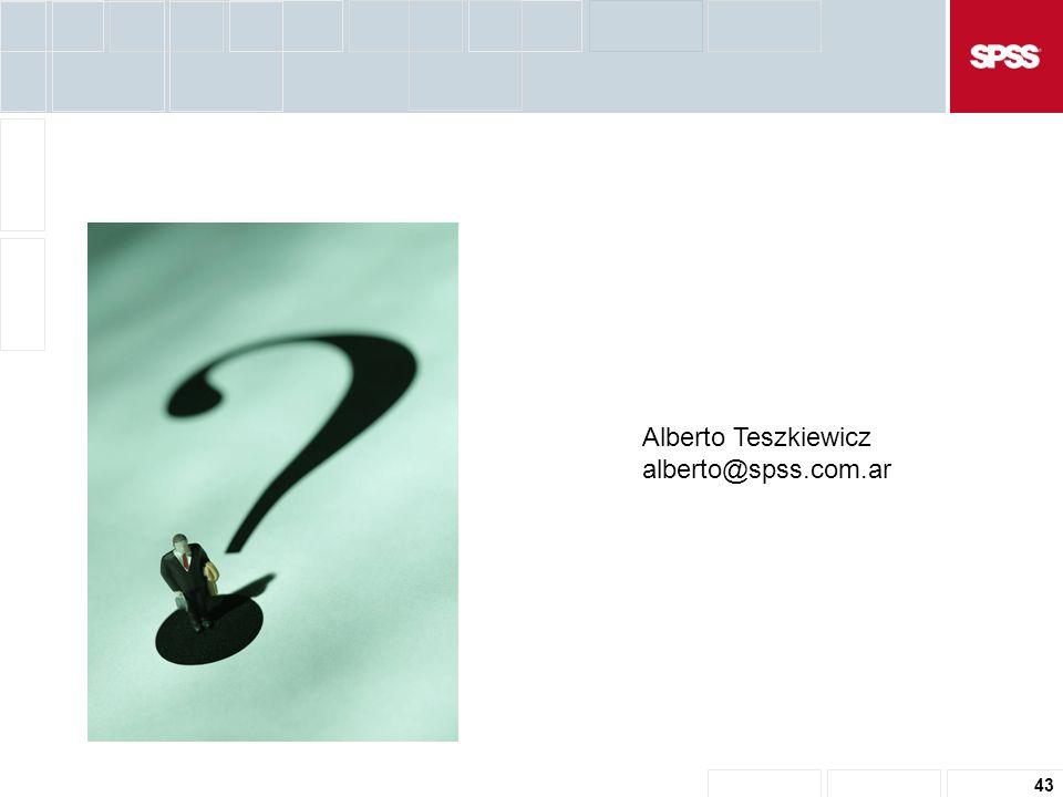 43 Alberto Teszkiewicz alberto@spss.com.ar