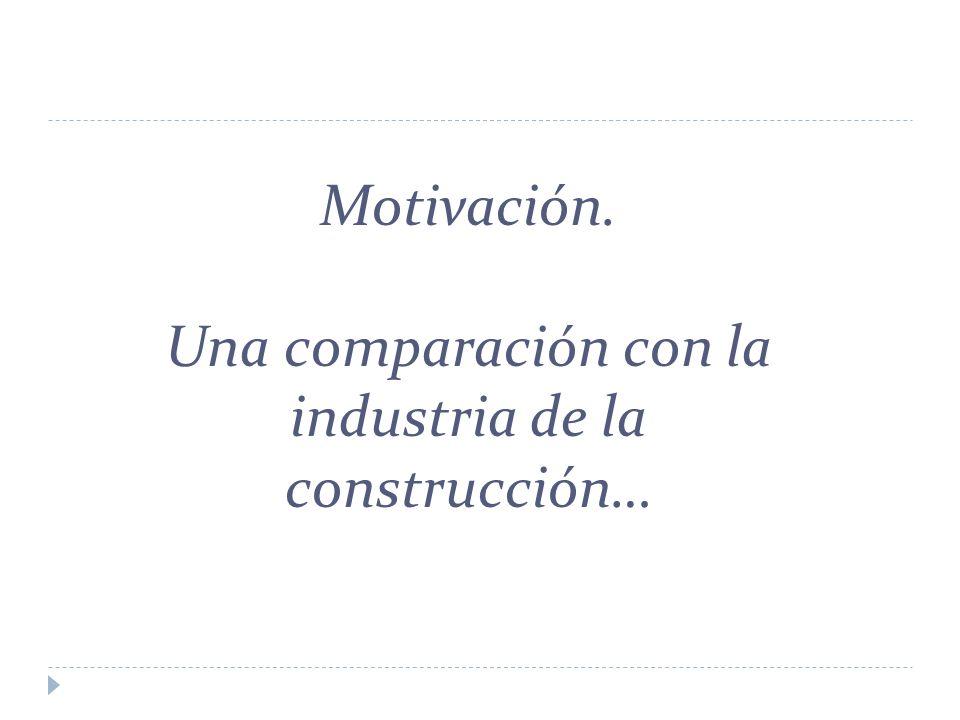 Motivación. Una comparación con la industria de la construcción…