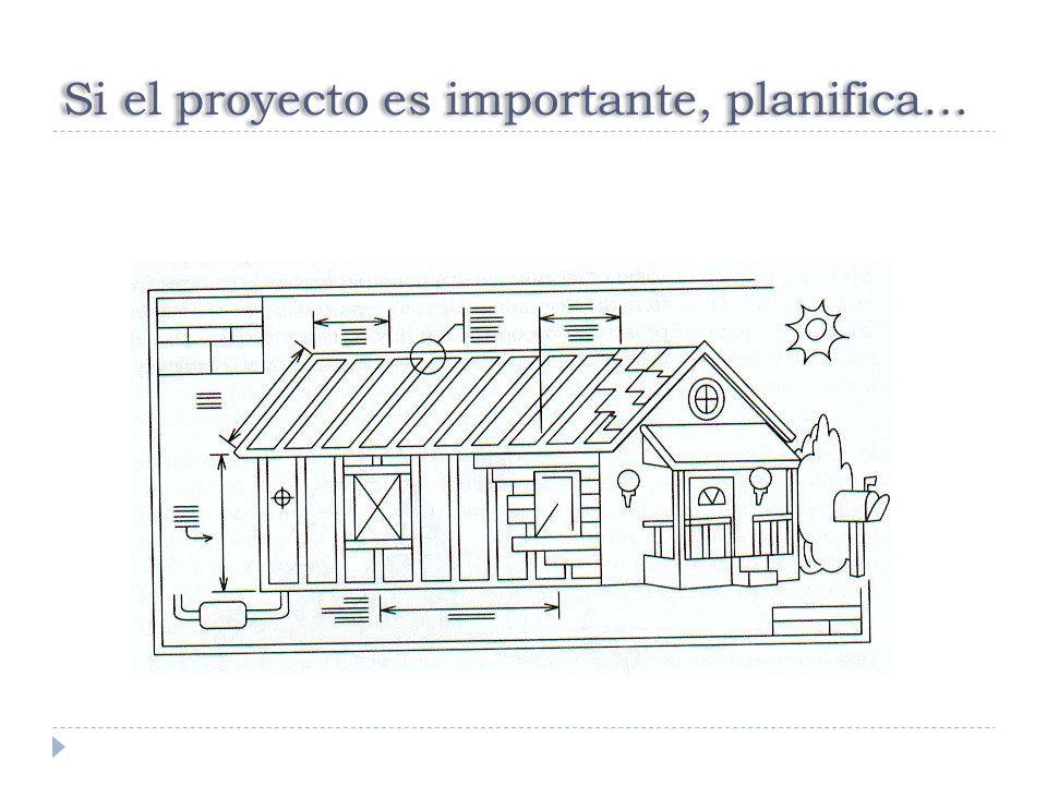 Si el proyecto es importante, planifica…