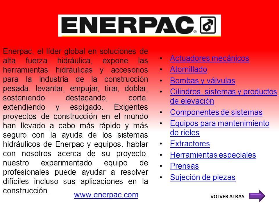 Enerpac, el líder global en soluciones de alta fuerza hidráulica, expone las herramientas hidráulicas y accesorios para la industria de la construcció