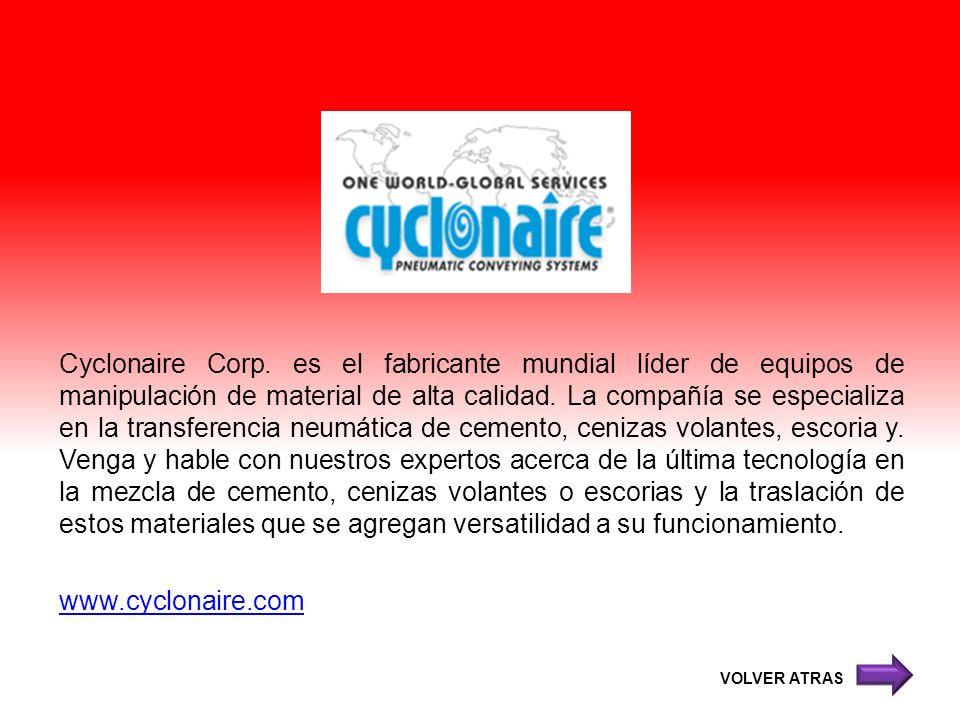 Cyclonaire Corp. es el fabricante mundial líder de equipos de manipulación de material de alta calidad. La compañía se especializa en la transferencia