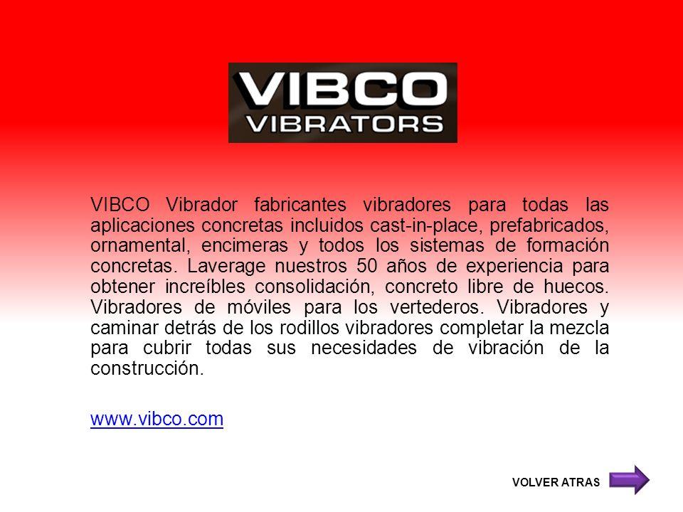 VIBCO Vibrador fabricantes vibradores para todas las aplicaciones concretas incluidos cast-in-place, prefabricados, ornamental, encimeras y todos los