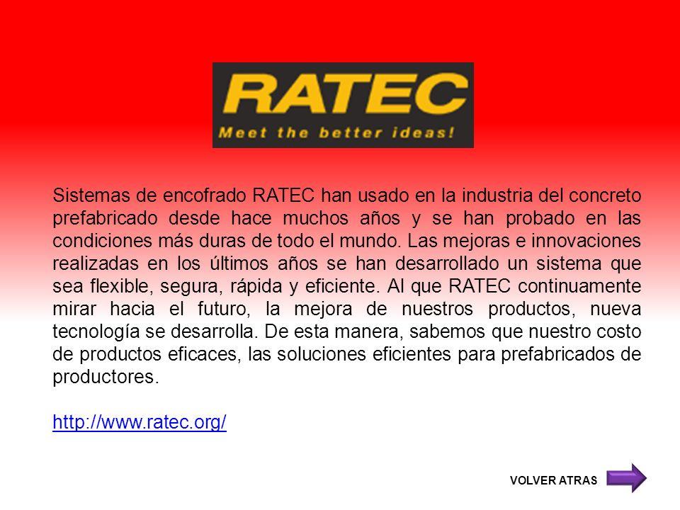 Sistemas de encofrado RATEC han usado en la industria del concreto prefabricado desde hace muchos años y se han probado en las condiciones más duras d