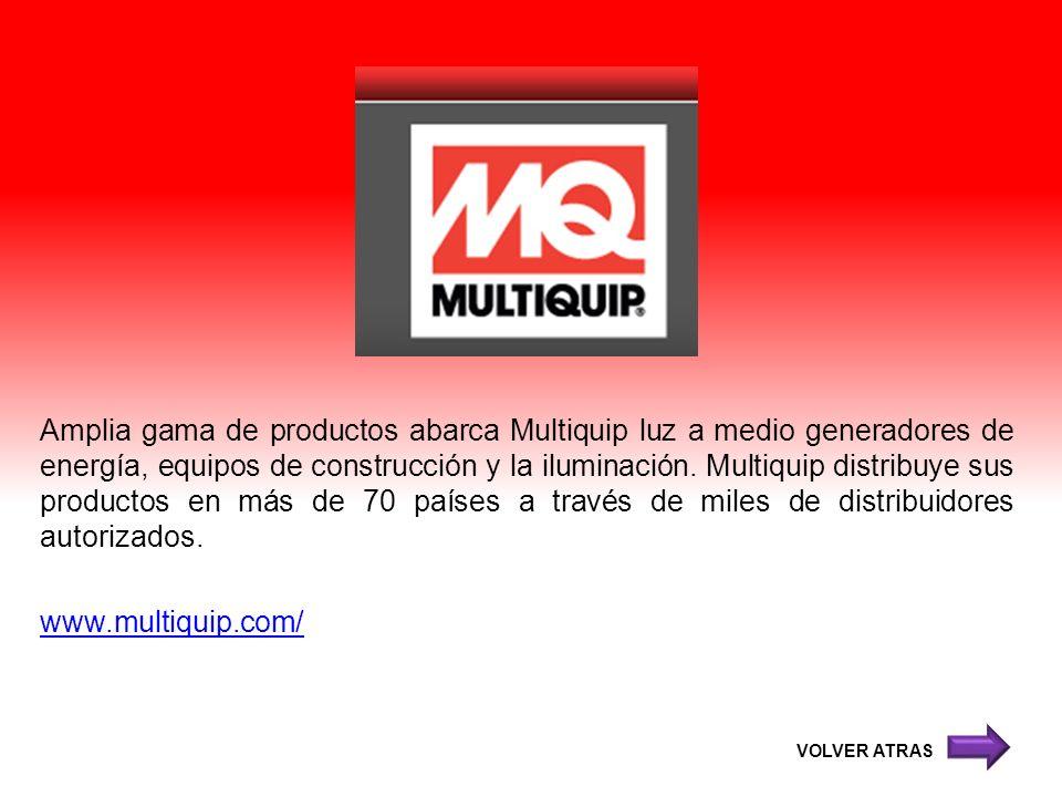 Amplia gama de productos abarca Multiquip luz a medio generadores de energía, equipos de construcción y la iluminación. Multiquip distribuye sus produ