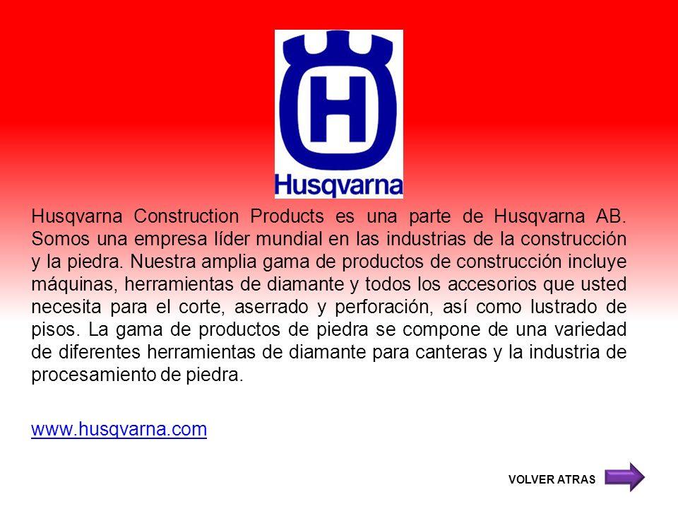 Husqvarna Construction Products es una parte de Husqvarna AB. Somos una empresa líder mundial en las industrias de la construcción y la piedra. Nuestr