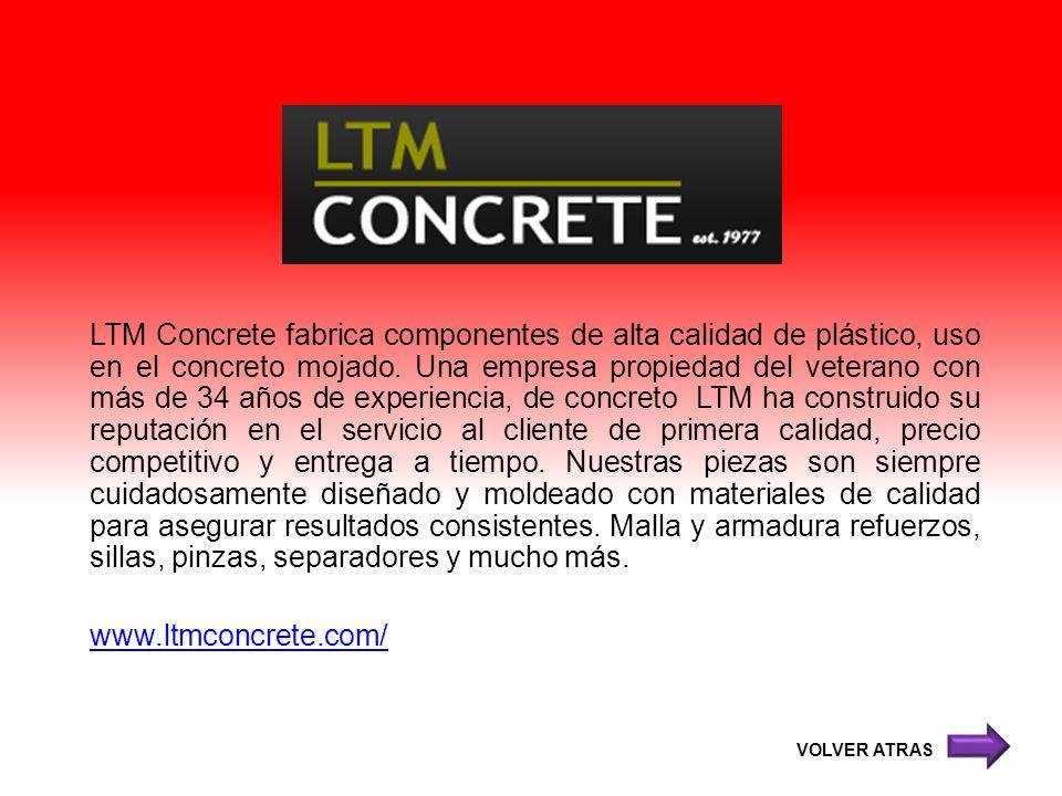 LTM Concrete fabrica componentes de alta calidad de plástico, uso en el concreto mojado. Una empresa propiedad del veterano con más de 34 años de expe
