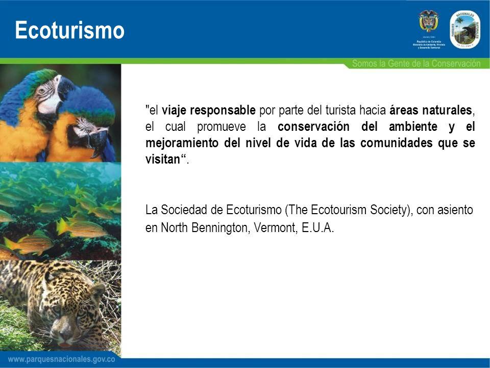 PARQUES NACIONALES NATURALES DE COLOMBIA Parques Nacionales Naturales 56 áreas protegidas 12 % del territorio nacional CRBV Ecoturismo 2004 12´602.321 hectáreas de extensión Segundo lugar en magadiversidad 10% de la biodiversidad mundial se encuentra en Colombia Colombia