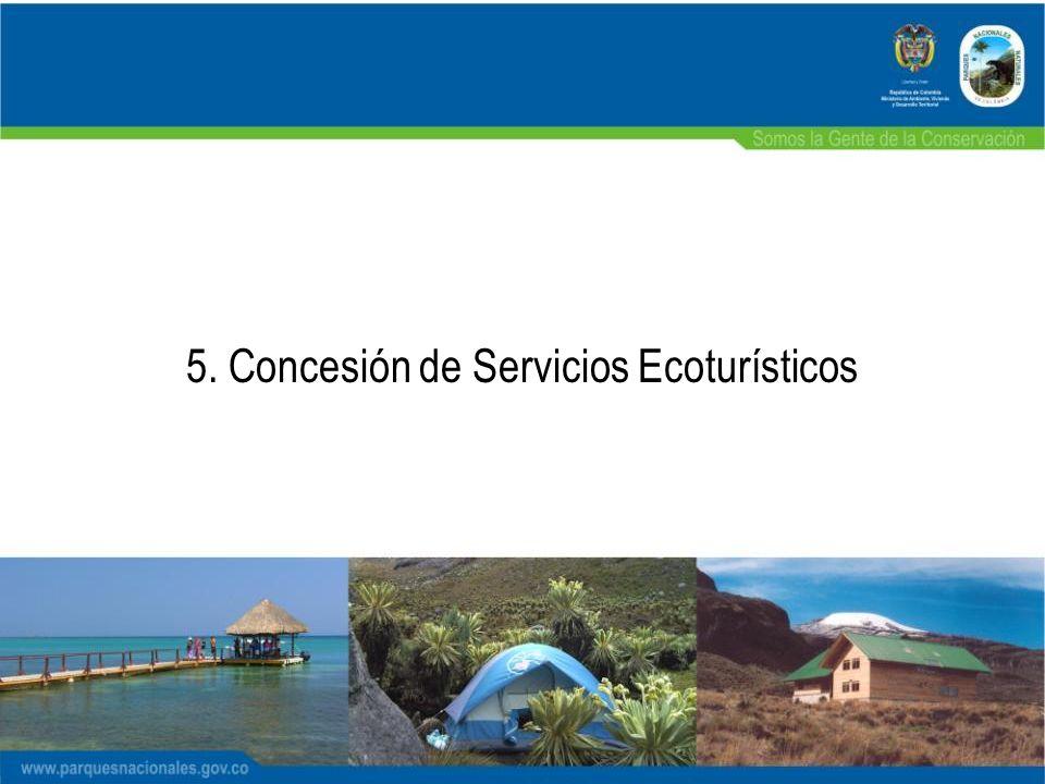 5. Concesión de Servicios Ecoturísticos