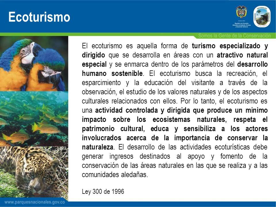 El ecoturismo es aquella forma de turismo especializado y dirigido que se desarrolla en áreas con un atractivo natural especial y se enmarca dentro de