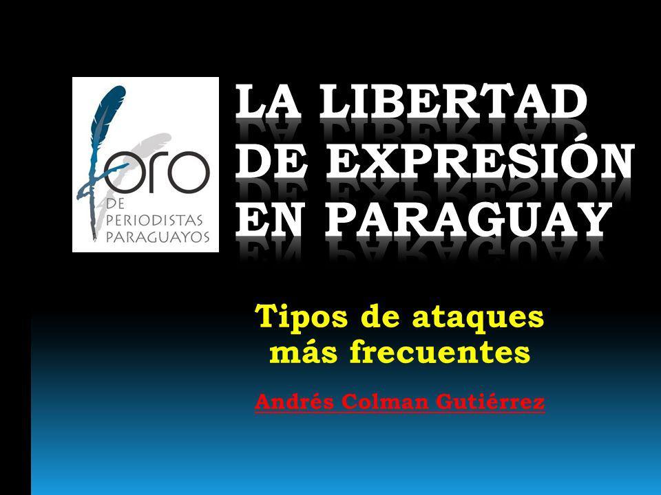 En el Paraguay, durante la dictadura de Stroessner, no había libertad de prensa y de expresión.