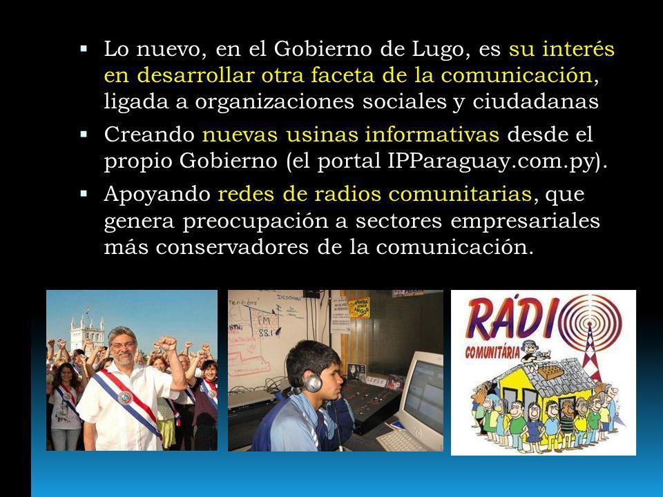 Lo nuevo, en el Gobierno de Lugo, es su interés en desarrollar otra faceta de la comunicación, ligada a organizaciones sociales y ciudadanas Creando n