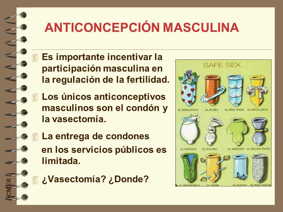 Es importante incentivar la participación masculina en la regulación de la fertilidad. Los únicos anticonceptivos masculinos son el condón y la vasect