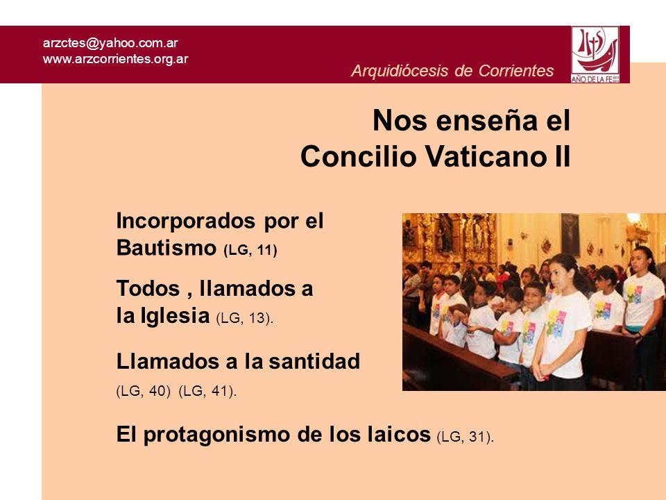 arzctes@yahoo.com.ar www.arzcorrientes.org.ar Arquidiócesis de Corrientes Para trabajar en grupos: 1 Leer con atención los textos : de cada párrafo, definir una palabra clave que, de algún modo, encierre lo principal de su contenido.