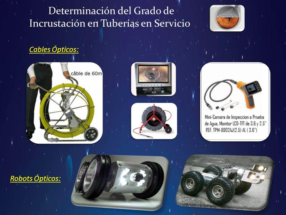 Determinación del Grado de Incrustación en Tuberías en Servicio Cables Ópticos: Robots Ópticos: