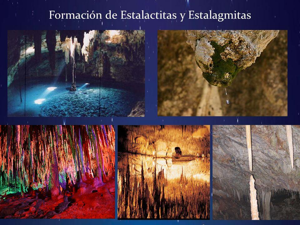 Formación de Estalactitas y Estalagmitas
