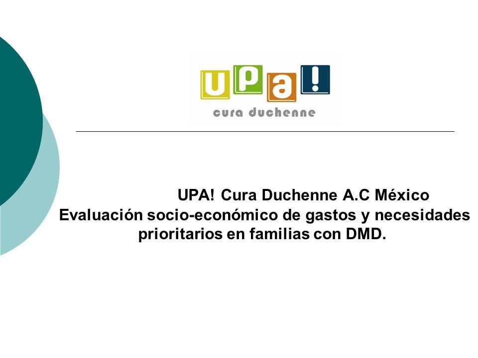 UPA! Cura Duchenne A.C México Evaluación socio-económico de gastos y necesidades prioritarios en familias con DMD.