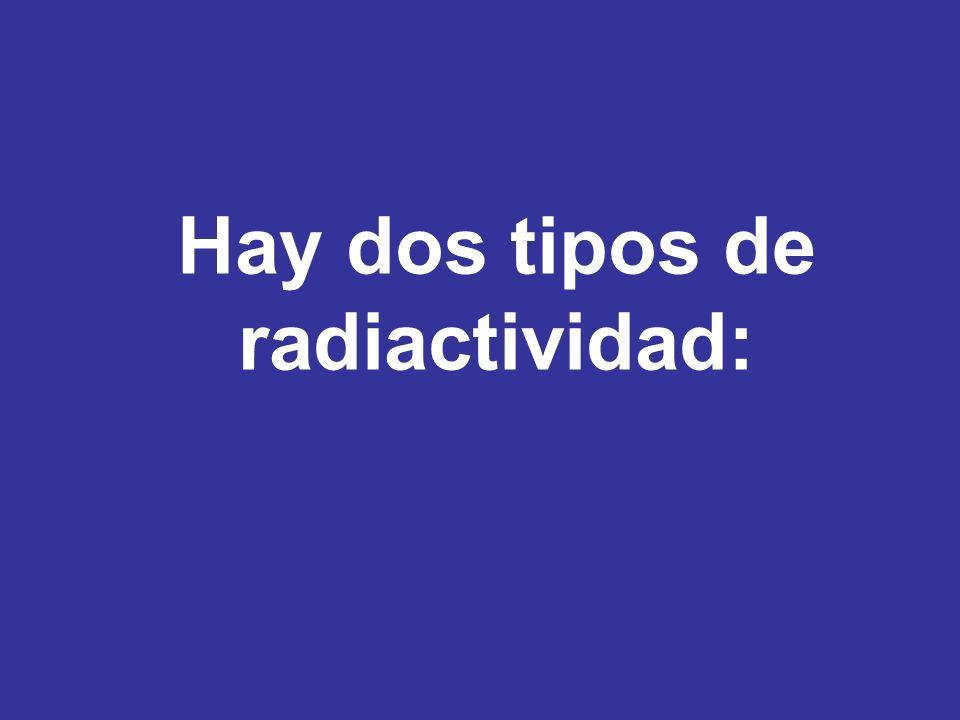 Radiactividad Natural Todos los núcleos con número atómico mayor a 83 son naturalmente radiactivos, también algunos isótopos de bismuto (Z=83), del plomo (Z=82), del talio (Z=81), y algunos isótopos de átomos más pequeños, por ejemplo el carbono-14 (Z=6).