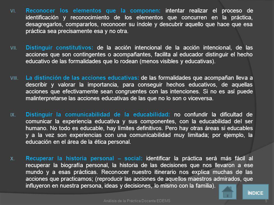 A continuación se propone cuatro formas de observación y análisis.