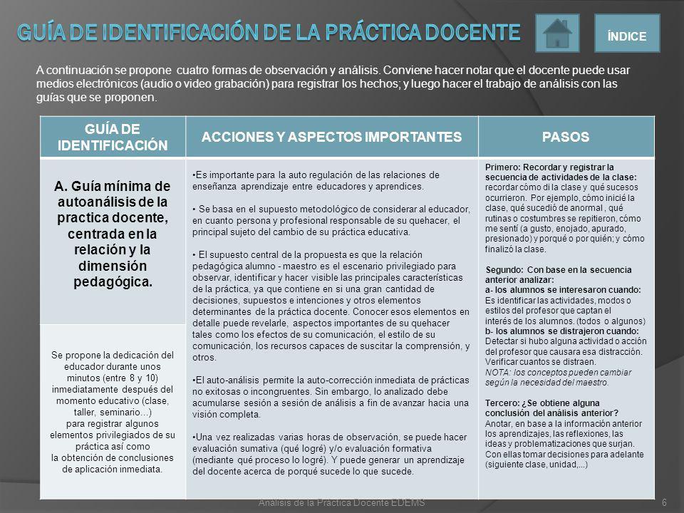 GUÍA DE IDENTIFICACIÓN ACCIONES Y ASPECTOS IMPORTANTES ELEMENTOS B.