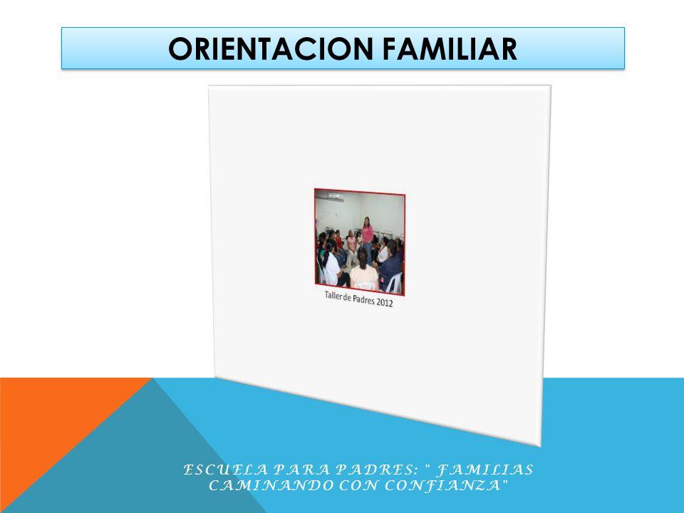 ORIENTACION FAMILIAR ESCUELA PARA PADRES: