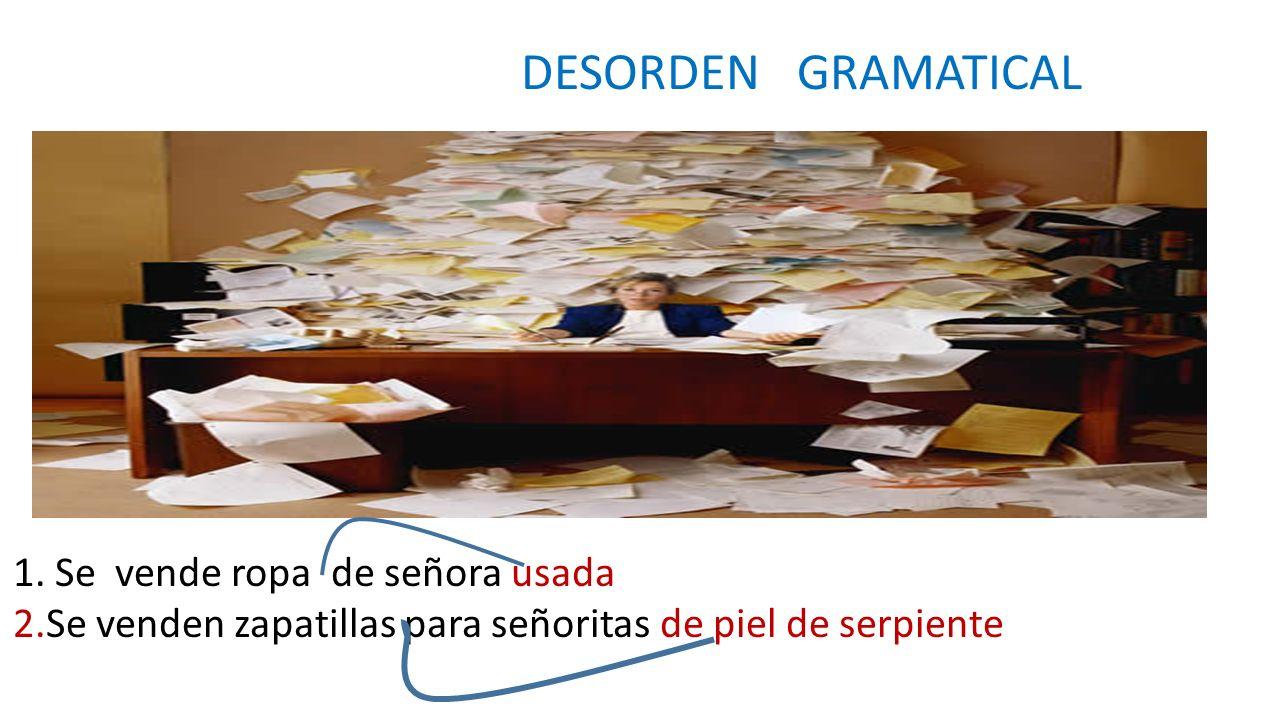 DESORDEN GRAMATICAL 1.