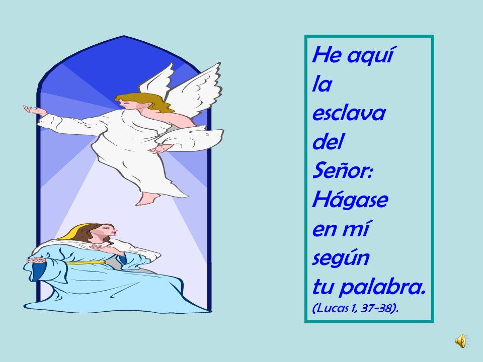 Al anuncio de que ella dará a luz al Hijo del Altísimo sin conocer varón, por la virtud del Espíritu Santo, María respondió por la obediencia de la fe