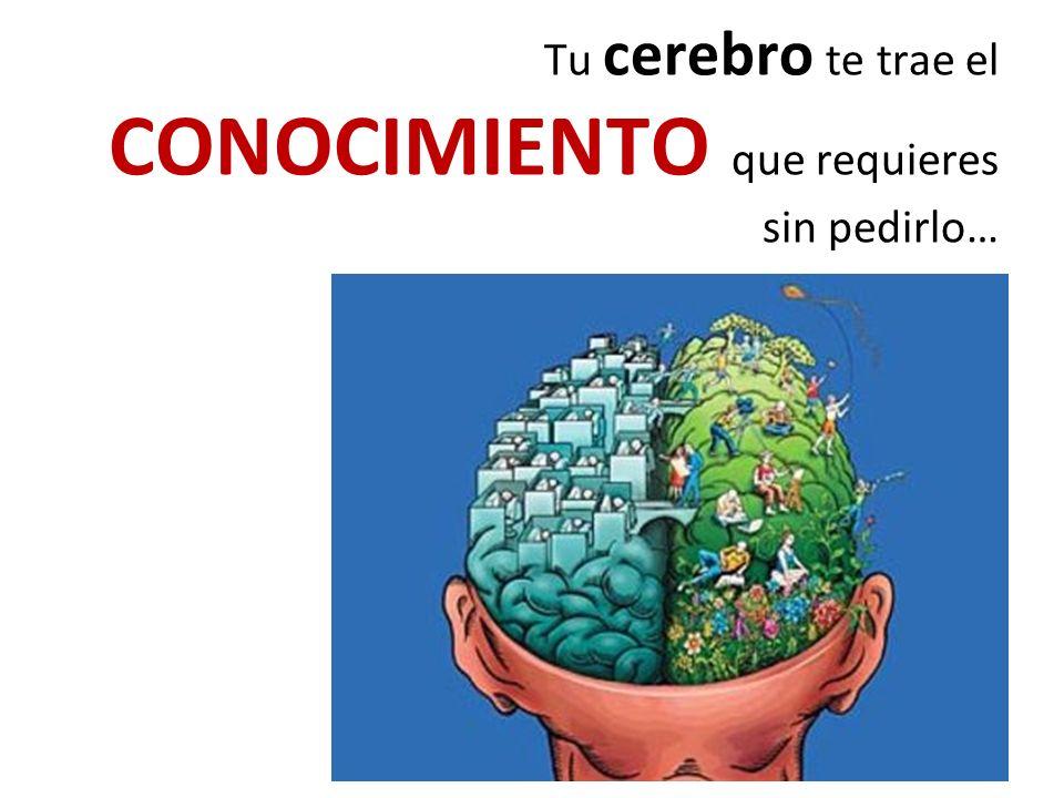 Tu cerebro te trae el CONOCIMIENTO que requieres sin pedirlo…