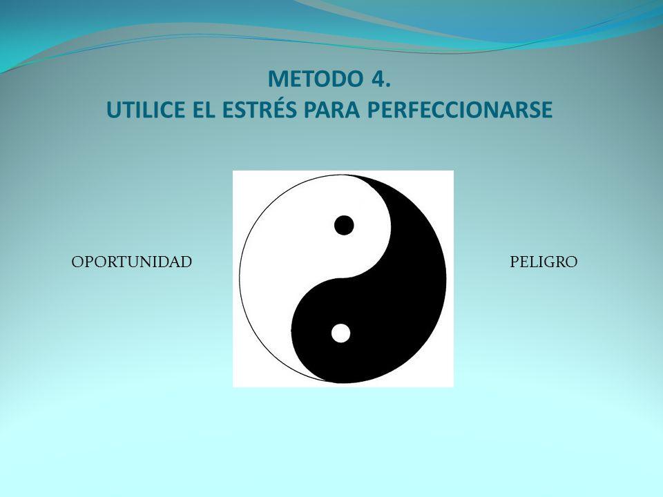 METODO 4. UTILICE EL ESTRÉS PARA PERFECCIONARSE OPORTUNIDADPELIGRO