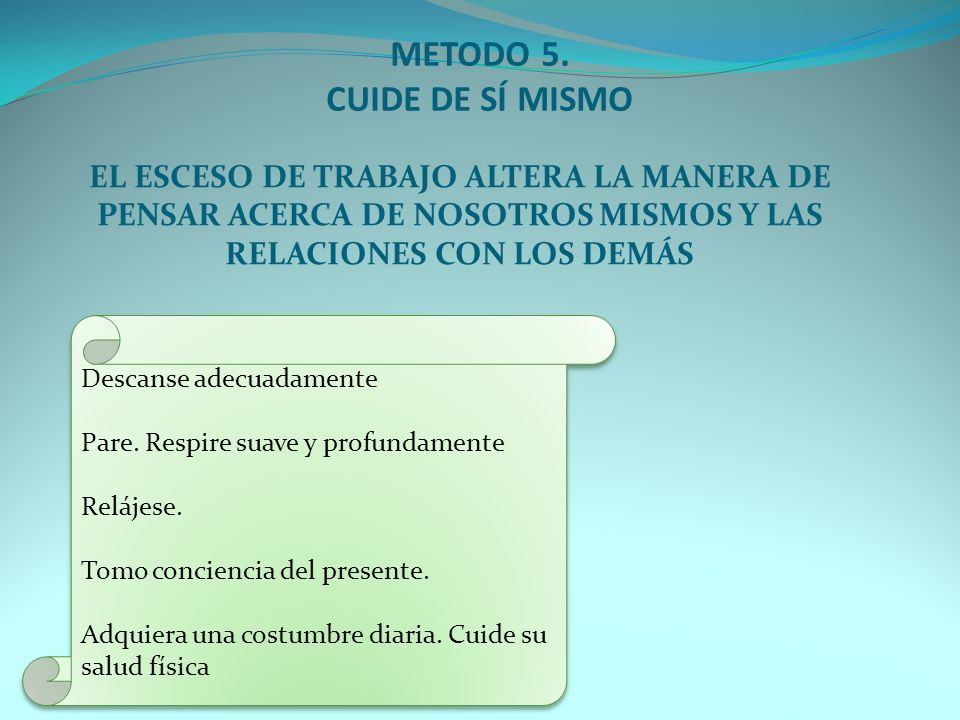 METODO 15.REDUZCA LAS EXIGENCIAS.