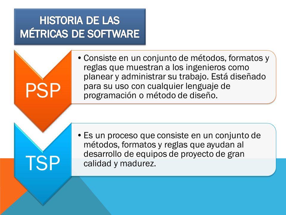PSP Consiste en un conjunto de métodos, formatos y reglas que muestran a los ingenieros como planear y administrar su trabajo. Está diseñado para su u