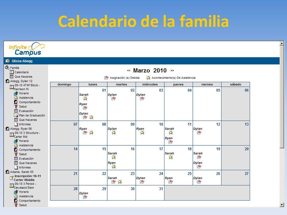 Calendario de la familia