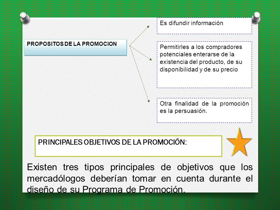 Objetivo Global de la Promoción: Necesitan influir en su comportamiento, lo cual, no es algo fácil de lograr, y es por ello, que éste es precisamente el objetivo global de la promoción.