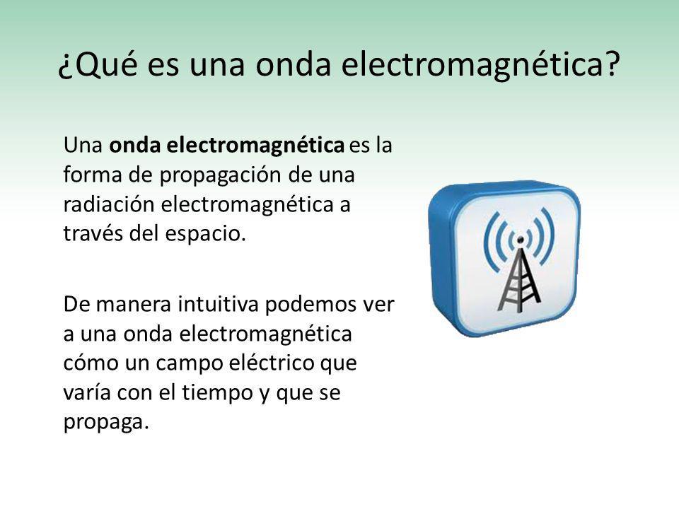 ¿Qué es una onda electromagnética? Una onda electromagnética es la forma de propagación de una radiación electromagnética a través del espacio. De man