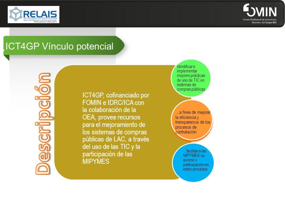 ¿ICT4GP Vínculo potencial ICT4GP, cofinanciado por FOMIN e IDRC/ICA con la colaboración de la OEA, provee recursos para el mejoramiento de los sistema