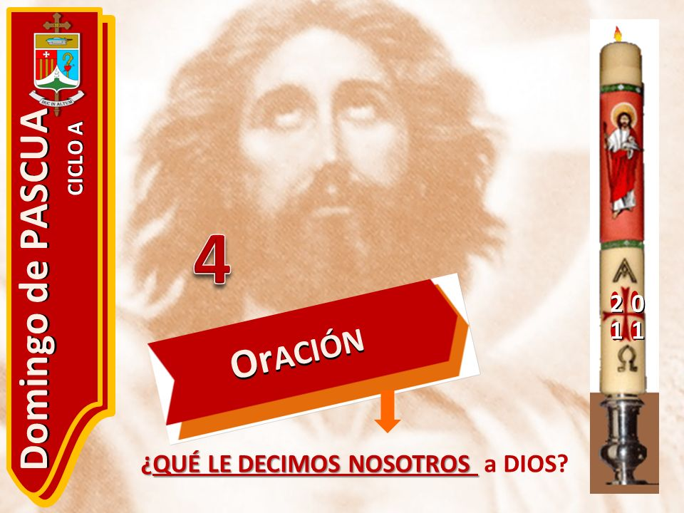 20 11 Domingo de PASCUA CICLO A ¿QUÉ LE DECIMOS NOSOTROS ¿QUÉ LE DECIMOS NOSOTROS a DIOS? Or ACIÓN