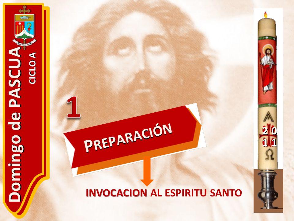 20 11 Domingo de PASCUA CICLO A P REPARACIÓN INVOCACION INVOCACION AL ESPIRITU SANTO