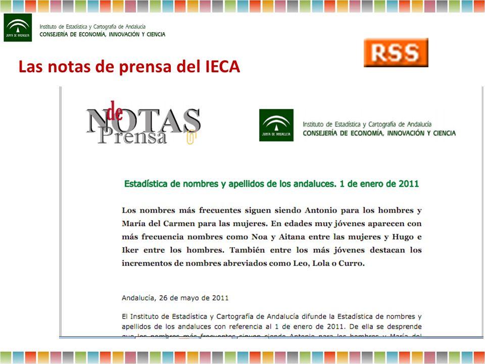 Las notas de prensa del IECA