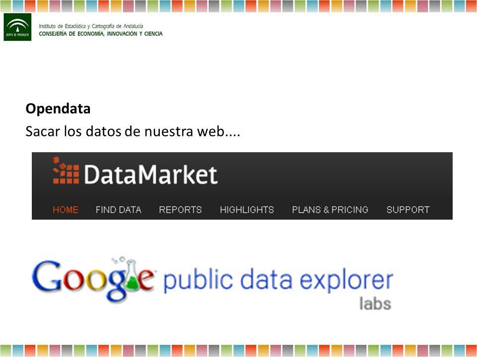 Opendata Sacar los datos de nuestra web....