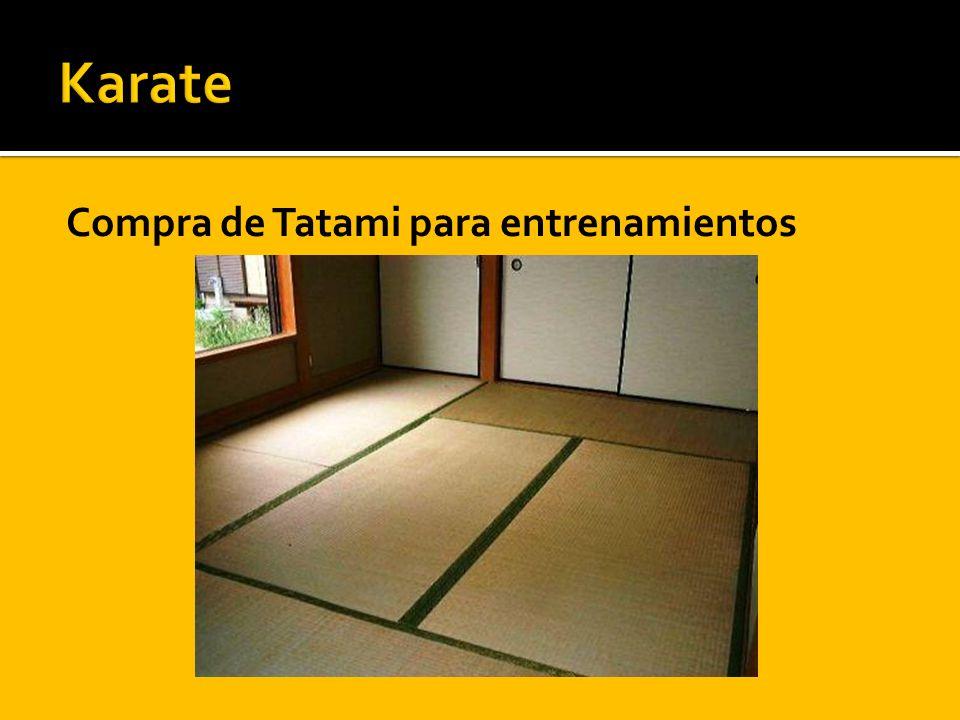 Compra de Tatami para entrenamientos