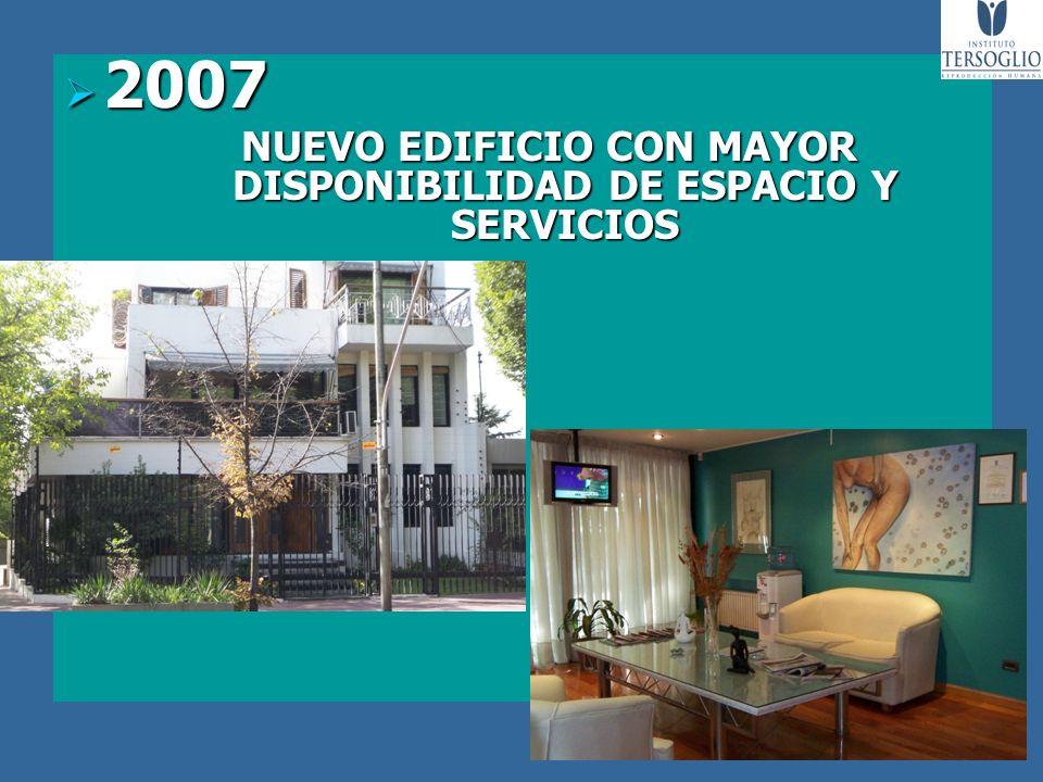 2007 2007 NUEVO EDIFICIO CON MAYOR DISPONIBILIDAD DE ESPACIO Y SERVICIOS