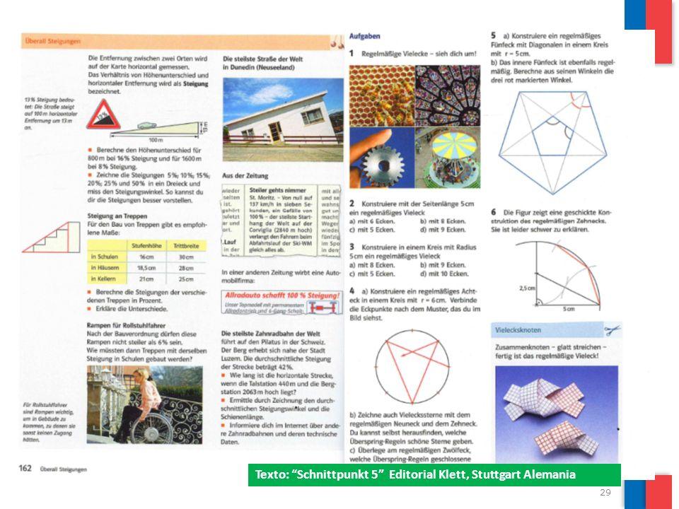 29 Texto: Schnittpunkt 5 Editorial Klett, Stuttgart Alemania