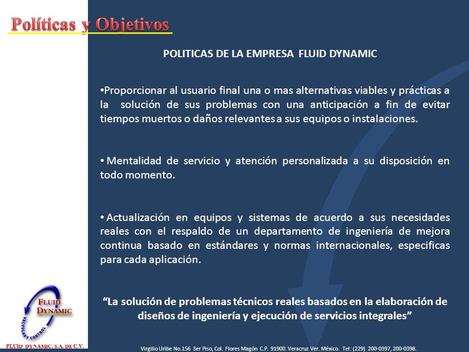 FLUID DYNAMIC, S.A.DE C.V. Virgilio Uribe No.156 3er Piso, Col.