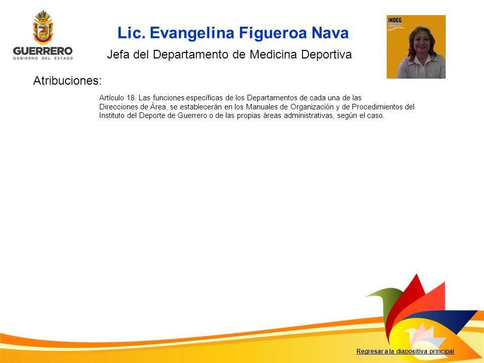 Regresar a la diapositiva principal Artículo 18. Las funciones específicas de los Departamentos de cada una de las Direcciones de Área, se establecerá