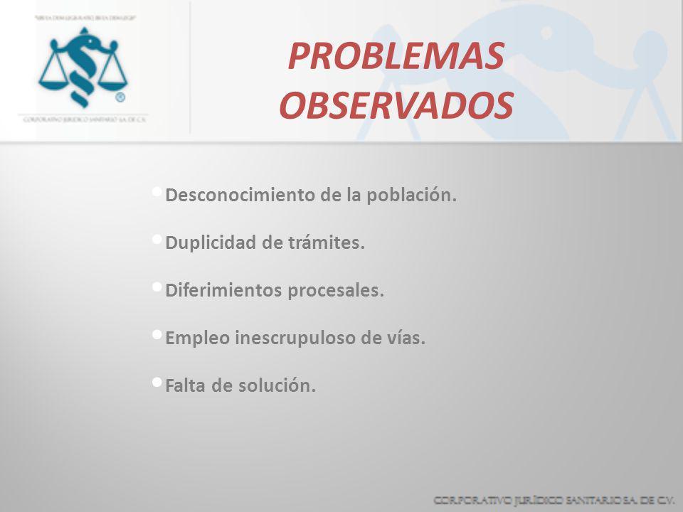 PROBLEMAS OBSERVADOS Ministerio público Vías para solución de casos Empleo indiscriminado CNDH SOLO RECOMENDACIONES contraloria NO ATIENDE LO CIVIL Ví