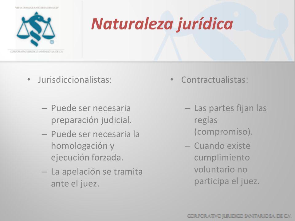 Mucho se ha discutido acerca de la naturaleza jurídica del arbitraje, observamos dos posiciones encontradas: JURISDICCIONALISTA CONTRACTUALISTA.