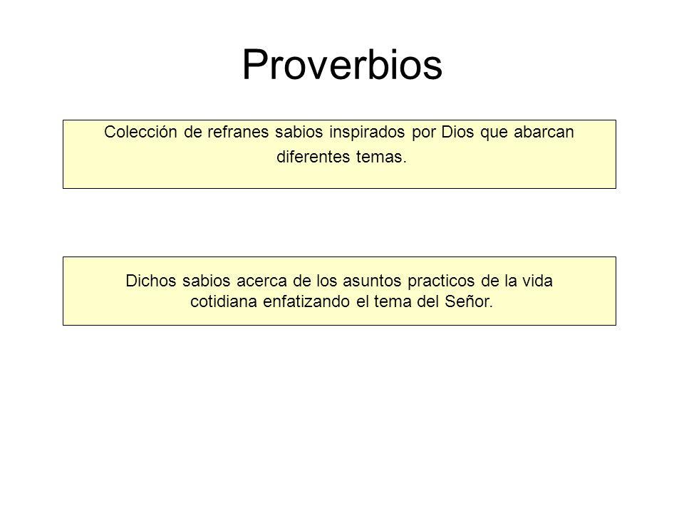 Proverbios Colección de refranes sabios inspirados por Dios que abarcan diferentes temas. Dichos sabios acerca de los asuntos practicos de la vida cot
