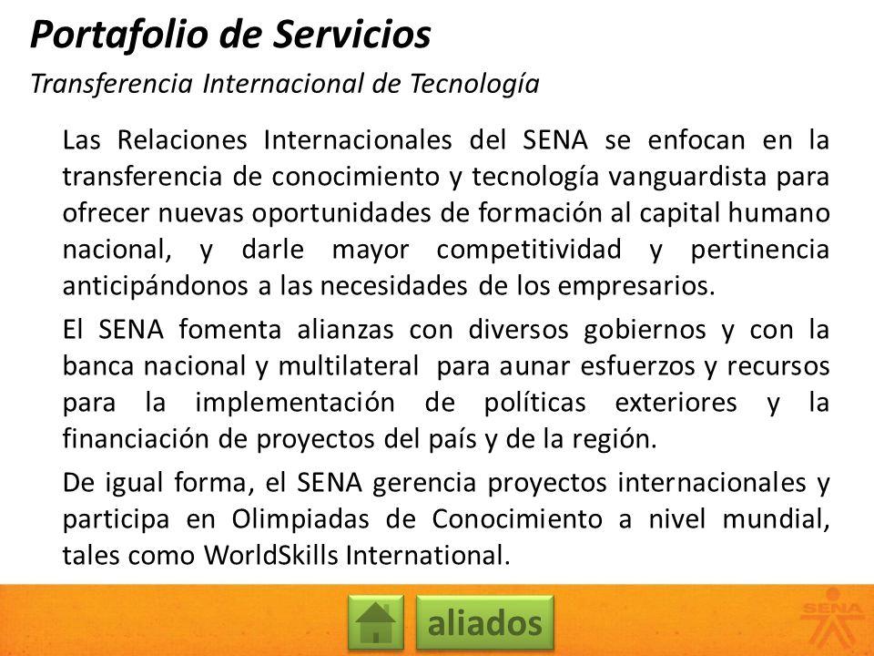 Las Relaciones Internacionales del SENA se enfocan en la transferencia de conocimiento y tecnología vanguardista para ofrecer nuevas oportunidades de